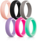 Silicone Ring Women Rubber Band 6 PACK Wedding Engagement Stackable Comfortable