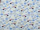 Cotton Jersey Fabric Material UV Colour Changing Light Sun Reactive - CLOUDS