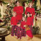 Family Matching Christmas Pajamas Set Women Childs Kids PJs Sleepwear Nightwear