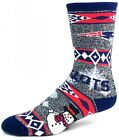 New England Patriots NFL Ugly Holiday Snowman Sweater Crew Socks