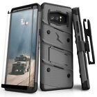 SAMSUNG GALAXY NOTE 8 CASE ZIZO BOLT SERIES WITH TEMPERED GLASS SCREEN PROTECTOR