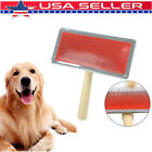 For Long Haired Pet Dog Cat Hair Brush Pin Fur Grooming Trimmer Comb Tool USA