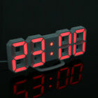 Home Digital 3D Modern LED Display Table Desk Night Wall Clock Alarm 24/12 Hour