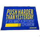 Gym Sweat Microfiber Sports Towel Jogging Funny Push Harder Than Yesterday If Yo
