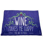 Kitchen Cooking Tea Towels - Wine Makes Me Happy You Not So Much - Cooking