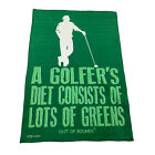 Golf Microfiber Sports Towel Funny Novelty Sweat Rag A Golfers Diet Consists Of