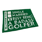 Golf Microfiber Sports Towel Funny Novelty Sweat Rag Single Married Busy Being A
