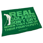 Golf Microfiber Sports Towel Funny Novelty Sweat Rag Real Golfers Dont Cry When