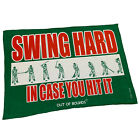 Golf Microfiber Sports Towel Funny Novelty Sweat Rag Swing Hard In Case You Hit