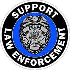 Support Law Enforcement Reflective Decal Sticker Police Sheriff Leo State Patrol