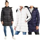 New Womens Long Padded Faux Fur Hooded Puffer Parka Winter Jacket Coat