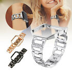 Lady Bling Rhinestone Replacement Wrist Band Strap + Frame For Fitbit Blaze 2019