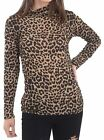 Womens Snake Leopard Print Polo Neck Top Ladies Party Wear Long Sleeve Shirt