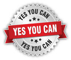 Yes You Can Slogan Badge Car Bumper Sticker Decal -  3'', 5'' Or 6''