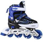 US12J-8 Pair of Inline Skates Fun Skating Roller Blades with Light up Wheels