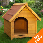 Wooden Dog House Kennel Winter Warm Weatherproof Shelter Outdoor Den Cabin Roof