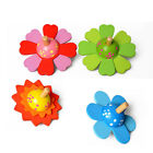 Wooden Flower Top Spinning Toy Develop Intelligence Toys Party Favor Xmas Gift