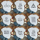 Harry Potter T-shirt Unisex Tee Tops Funny Wizard Tee Shirts S M L XL XXL XXXL