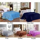 Fleece Soft Warm Sofa Bed Blanket Winter Bedding Blue Gray RW image
