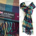 Winter Men Women Warm 100% Cashmere Scotland Made Plaid Scarf Wraps Wool Scarves <br/> Same Day Shipping   Super Warm   High Quality