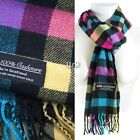 Winter Men Women Warm 100% Cashmere Scotland Made Plaid Scarf Wraps Wool Scarves <br/> Same Day Shipping | Super Warm | High Quality