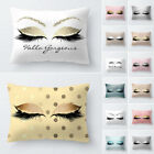 New Pillow Case Glitter Car Sofa Throw Cushion Cover Eyelash Lash Home Decor