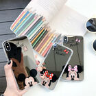 Mirror Plating Mickey Minnie Mouse Back Case Soft TPU Cover For iPhone Samsung