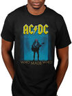 Official AC DC Who Made Who Unisex T-shirt Rock Music Vintage Band Merch Live Fa
