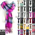 Womens Mens Winter Warm Soft 100 Cashmere Scarf Scotland Made Scarves Wrap Wool