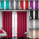 Ready Made Thermal Blackout Eyelet Ring Top Fully Lined Curtains Pair Tie Backs