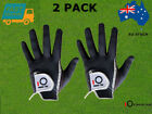Men's Golf Gloves Wet Weather Right Hand Left Hand Black Grey Rain Grip 2 Pack