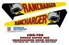 GE-QG-702 1971 DODGE SUPER BEE - RAMCHARGER HOOD DECAL - TWO DECALS - LICENSED  for sale