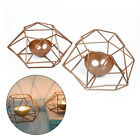 1* Wedding Geometric Copper Rose Gold Tea Light Holder Candle Holder Lantern Top