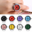 Women Men's Finger Rings Watch Quartz Analog Bracelet Silver Party Watches Gift image