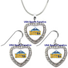 Denver Nuggets 925 Necklace / Earrings or Set Team Heart With Rhinestones on eBay
