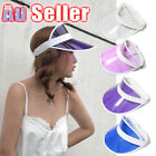 Fashion summer Sun Visor Poker Hat Golf Dance Cap transparent PVC empty top