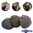 AU Newsboy Gatsby Cap Mens Ivy Hat Golf Driving Flat Cabbie Beret Driver Hat New