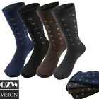 3 12 Pairs Lot Men's Solid Assorted Print Design Cotton Dress Dressing Socks