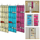 20 Pocket Over the Door Shoe Organizer Space Saver Rack Hanging Storage Hanger