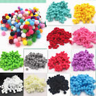 Hot 100pcs 8mm DIY Crafts mixed Color Mini Fluffy Pom poms Ball Felt