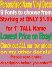 Внешний вид - Custom Personalized Vinyl Lettering Name Decal Sticker .99¢--$3.89