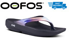 OOFOS OOLALA SANDAL BLACK CALYPSO Women's Thong Flip Flop Recovery - NEW