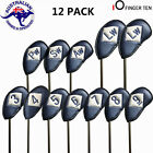 Golf Head Cover 12 PCS PU Leather Iron Club Putter Left or Right Hand Golfer AU