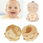 Kid Baby Keepsake Wood Tooth Fairy Case Save Milk Teeth Organizer Storage Box