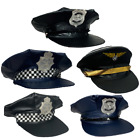 UNISEX FANCY DRESS POLICE HATS PILOT CAP CAPTAIN MENS LADIES UK COSTUME COP