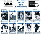 1992 WIZ NY YANKEES STARS OF THE 1960'S SEE LIST.. HARD TO FIND FREE SHIPPING