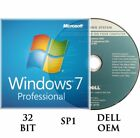 Windows 7 Professional SP1 32 or 64 Bit full install DVD