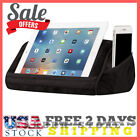 iPad Pillow For Bed Sofa Stand Holder Pockets Storage Tablet Micro Bead Comfort