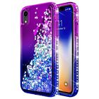 For XR Case iPhone Cover Full Body Protection Bumper Armor Diamond Purple Blue