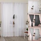 Pair (2 Panels) Of Voile Slot Top Net Curtains Plain Window Curtain Home Decor